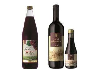 יין אדום מתוק ותירוש של יקבי סגל