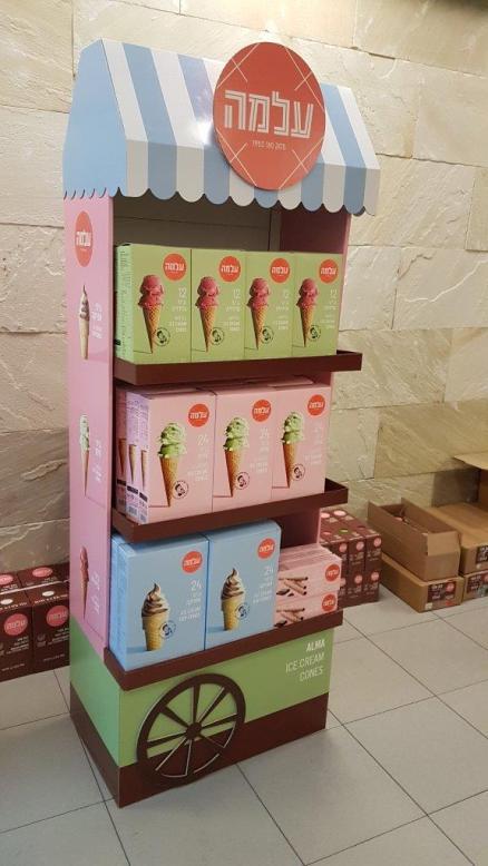 """סטנד גביעי גלידה, צילום: יח""""צ"""