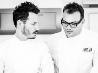 מימין: השף מאיר דנון והקונדיטור האגדי סדריק גרולה, צילום: שירן כרמל