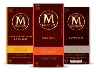 """שוקולד מגנום - הטעמים החדשים. צילום: יח""""צ"""