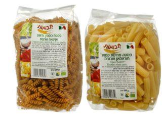 הפסטות החדשות של תבואות: פסטה מקמחי כוסמין עדשים וקינואה ופסטה מקמח קמוט. צילום: אייל קרן