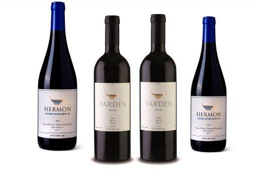 יינות רמת הגולן הר חרמון קברנה סוביניון וירדן מרלו