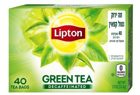 תה ירוק ליפטון ללא קפאין
